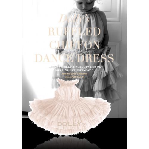 荷蘭精品Dolly巴黎名媛雪紡荷葉小禮服-天使白