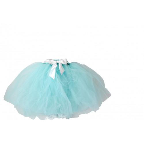 荷蘭精品Dolly芭蕾舞伶長紗蓬裙 長裙 紗裙-Tiffany藍