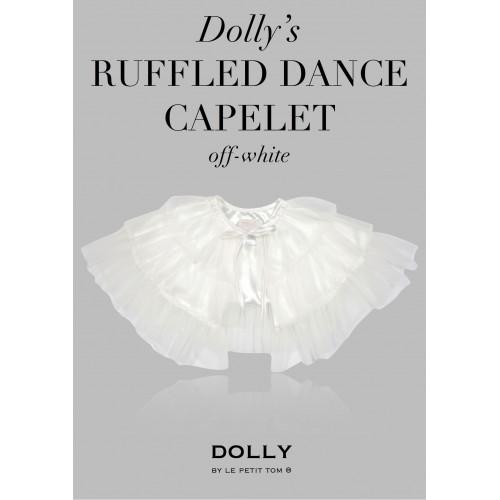 荷蘭精品Dolly宮廷小公主荷葉紗披肩-天使白