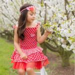 澳洲Oobi夏日甜心艷紅洋裝