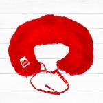 澳洲Oobi奢華小公主毛草領巾-艷紅款 耶誕