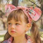 澳洲Oobi粉紅甜心蝴蝶結髮帶