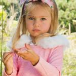 澳洲Oobi奢華小公主毛草領巾-雪白款