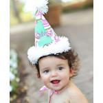美國RuffleButts 花園甜心Ashlyn 寶貝生日帽(周歲派對好幫手)