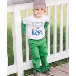 美國RuffleButts 生日男孩長袖包屁衣 綠色 慶生必備!