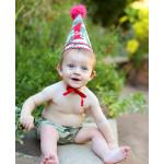 美國RuffleButts 迷彩軍風生日帽 慶生必備!