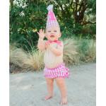 美國RuffleButts 俏麗寶貝Candy Gingham 生日帽(周歲派對好幫手)