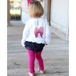 美國RuffleButts 冬季暖暖女童褲襪 亮麗桃