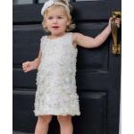 美國RuffleButts 雪紡玫瑰花天使洋裝