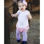 美國RuffleButts 冬季暖暖女童褲襪 薰衣草紫