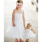 美國RuffleButts 超夢幻公主大蓬裙雪紡洋裝 純白款