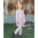 美國RuffleButts 冬季暖暖女童褲襪 公主粉