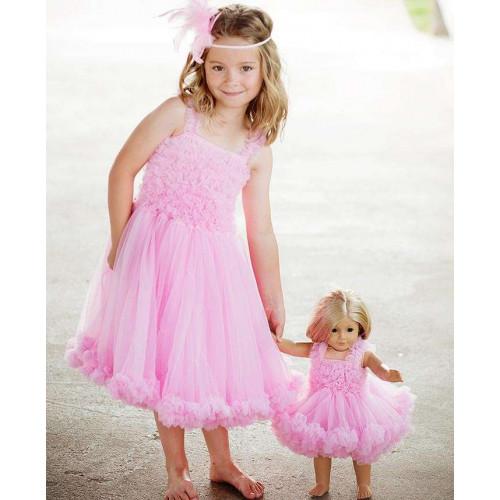 美國RuffleButts 超夢幻公主大蓬裙雪紡洋裝 公主粉