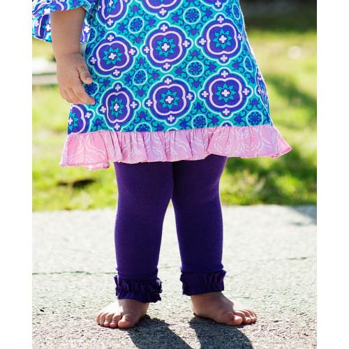 美國RuffleButts 冬季暖暖女童褲襪 艷麗紫