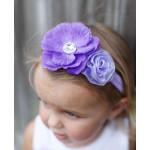 美國RuffleButts Purple Maya 粉紫小花小女童髮帶