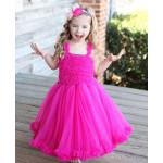 美國RuffleButts 超夢幻公主大蓬裙雪紡洋裝 甜美桃