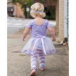 美國RuffleButts 芭蕾舞伶蓬裙短袖洋裝 薰衣草紫款