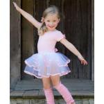 美國RuffleButts 芭蕾舞伶蓬裙短袖洋裝 粉紅款