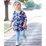 美國RuffleButts 冬季暖暖女童褲襪 天空藍