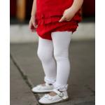 美國RuffleButts 冬季暖暖女童褲襪 甜心白