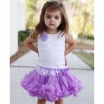 美國RuffleButts雪紡小花背心 薰衣草紫