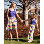 美國RuffleButts海洋渡假風Rainbow Wave媽咪洋裝(另有女童款)母女裝首選!