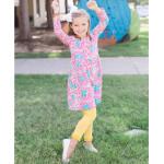 美國RuffleButts 冬季暖暖女童褲襪 太陽黃